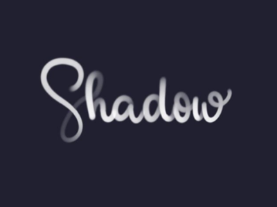 Shadow wacom intuos lettering calligraphy