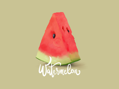 Watermelon watermelon fruits calligraphy lettering drawing wacom intuos