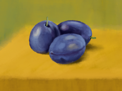 Plum digital art 2d art illustration photoshop wacom intuos drawing fruits and vegetables online