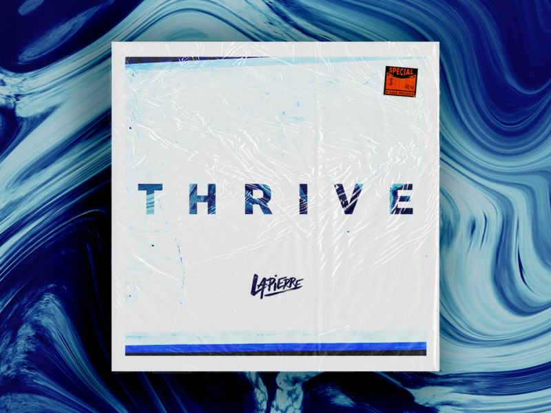 Thrive Album Cover Design album mockup custom marbled marble thrive album cover album art album cover design