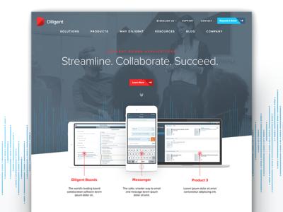 Diligent Homepage cta product screenshots devices hero design web layout tech graphic design ui ux website web design digital