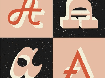 36 Days of Type - Letter A hand lettering illustrator lettering typogaphy