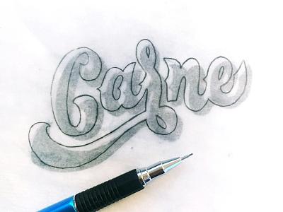 Carne hand lettering calligraphy lettering
