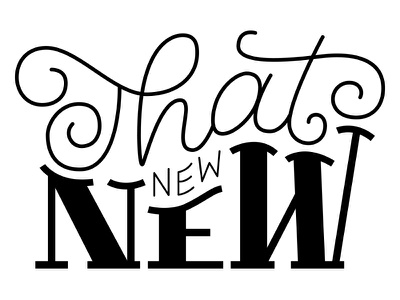 That New New typography hand lettering calligraphy lettering