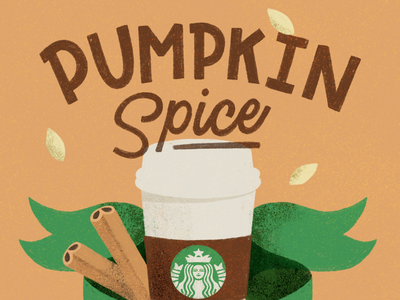 pumpkin spice & everything nice illustration ipad ipad lettering procreate design typography lettering hand lettering