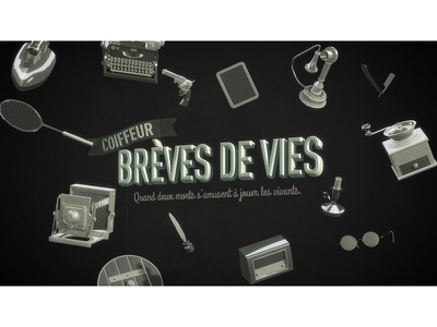 """Brèves de Vies """" Old version """" styleframe style frame opening titles title sequence title"""