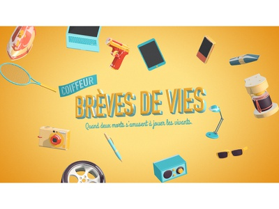 Brèves de Vies style frame opening titles title sequence title