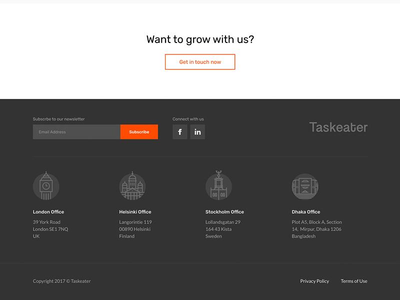 Remote Design Jobs >> Footer Design by Iftekhar Azam | Dribbble | Dribbble