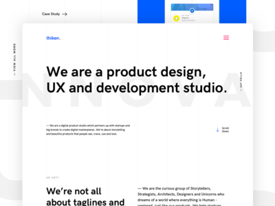 Thiken Website Redesign ui apps mobile ux midwest fargo thiken website redesigning rebranding