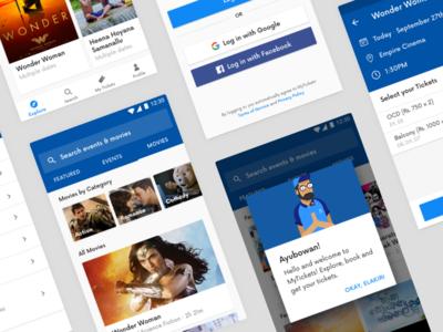 Mytickets Mobile App sri lanka ux ui redesign mobile app tickets mytickets