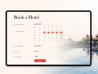 Hotel room reservation card