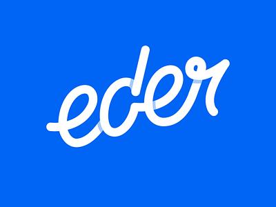 eder | AA-der | personal Brand Logotype branding logo design letterign logotype personal brand slanted monoline logo