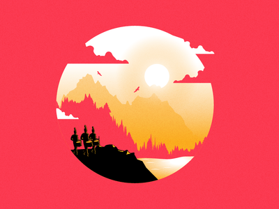 On the Horizon | T-shirt Illustration