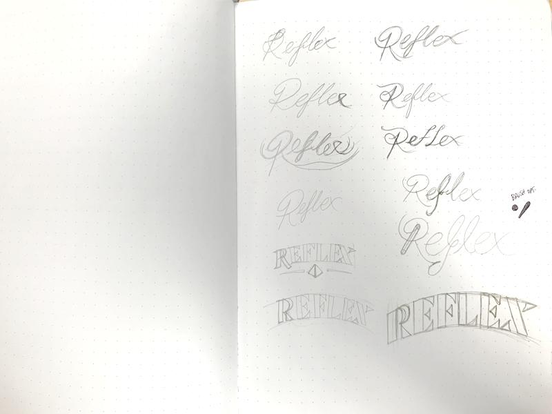 Logo Sketching serif monoline reflex sketch logo