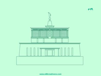 Mexico City Temple Illustration