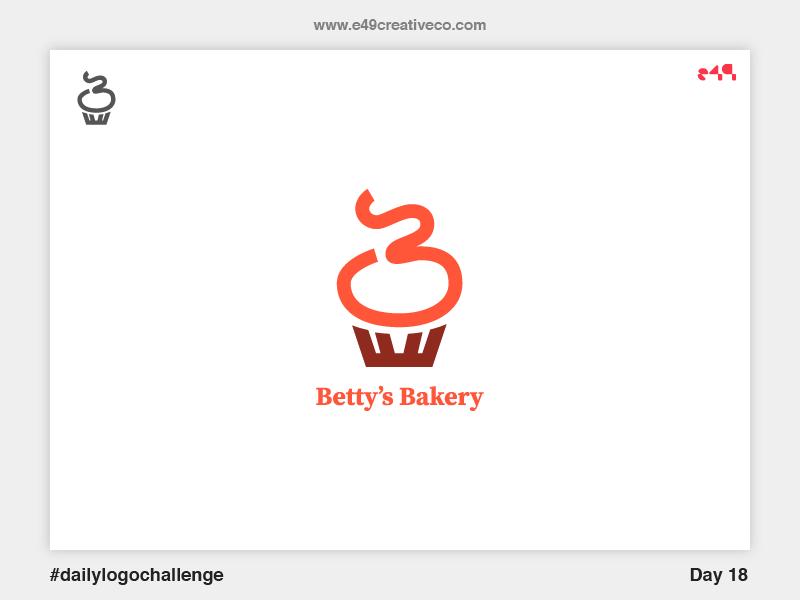 18 Betty's Bakery Logo icon b cupcake bakery challenge logo