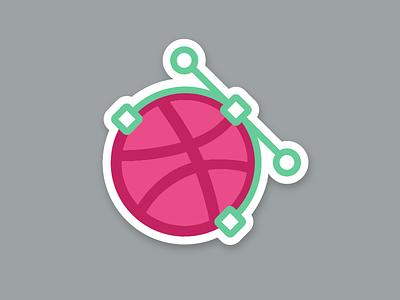 Dribbble sticker nods vector stickermule playoff sticker dribbbble