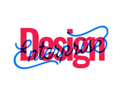 Design Enterprise t-shirt | juxtaposition typography