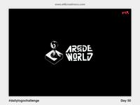50/50 Arcade World Logo