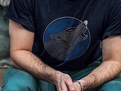 Howl | t-shirt for sale illustration wolf howl t-shirt