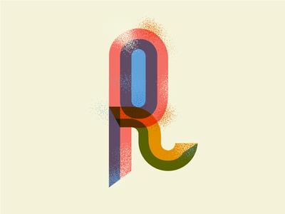 R Letterform 2