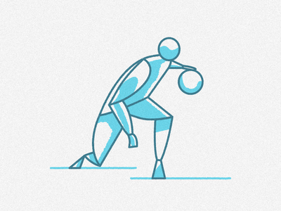 Basketball player Dribbbling