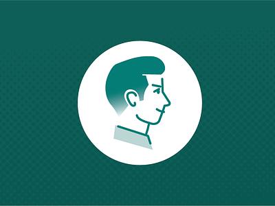Preppy avatar illustration male man character darkgreen preppy avatar