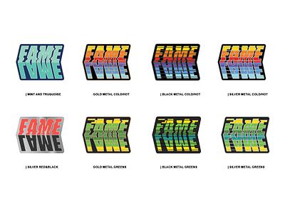 Lame Fame Enamel Pin pin badge bold vintage retro typography lame fame enamelpin pin