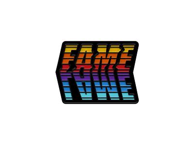 Lame Fame Black Version lettering illustration enamel pin lapelpin pin