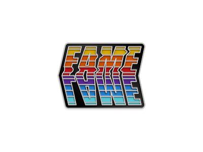 Lame Fame Silver Version illustration lapel fame lame enamel pin lapel pin