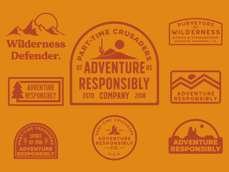 Adventure Collection outdoor retro badge outdoor branding outdoor badge adventure national park wilderness outdoors logo vintage retro patch badge