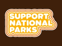 National Parks typography badge vintage illustration outdoor badge outdoors wilderness adventure national park patch retro