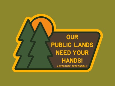 Your Hands conservation pine trees illustration outdoor badge national park wilderness outdoors logo vintage patch retro badge