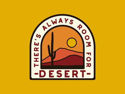 Always Room cactus illustration desert southwest retro badge cactus desert outdoor badge adventure national park wilderness outdoors logo vintage patch retro badge