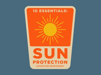 Sun Protection outdoor badge adventure national park wilderness outdoors logo vintage patch retro badge
