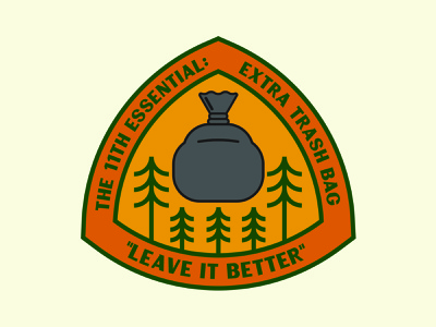 11th Essential adventure outdoor badge national park wilderness outdoors logo vintage patch retro badge