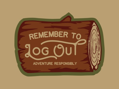 Log Out nature badge outdoor design outdoor logo retro nature log out retro wilderness outdoors logo vintage patch badge