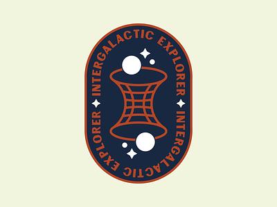 Intergalactic Wormhole space patch space retro space retro badge vintage patch retro badge