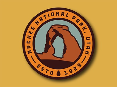 Arches Badge patch badge utah delicate arch arches national park