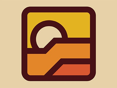 Entrada Logo red rock concept thick lines patch badge logo entrada