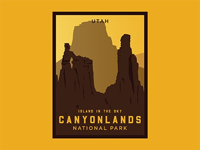 Canyonlands Poster vintage label retro canyonlands patch badge southern utah utah canyonlands national park