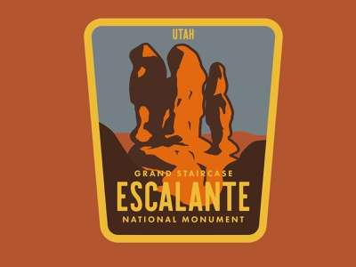 Escalante - Devil's Garden desert southern utah illustration adventure outdoors wilderness sticker utah national park logo vintage retro patch badge