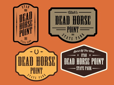 Dead Horse Point desert design southern utah adventure outdoors wilderness sticker logo vintage retro patch badge utah dead horse point