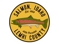 Salmon Badge