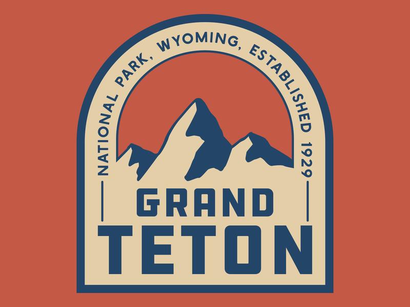 Grand Teton Patch grand teton tetons mountains design outdoors wilderness national park logo vintage retro patch badge