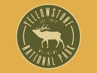 Yellowstone Elk Badge