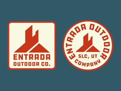 Entrada Butte desert southern utah icon design illustration adventure sticker wilderness utah outdoors national park logo vintage retro patch badge