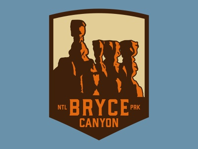 Bryce Canyon bryce canyon nps southern utah illustration design adventure sticker utah wilderness outdoors national park logo vintage retro patch badge