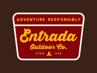 Entrada Wilderness icon southern utah typography desert outdoor badge branding design sticker adventure utah wilderness outdoors national park logo vintage retro patch badge