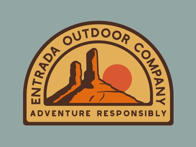 Entrada Monument national monument branding southern utah outdoor badge desert nps illustration icon design sticker adventure utah wilderness outdoors national park logo vintage retro patch badge